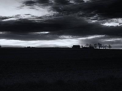 Amish Sunrise Black And White Print by Joshua House