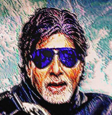 Goan Artists Painting - Amitabh Bachchan - God Of Bollywood by Piety Dsilva