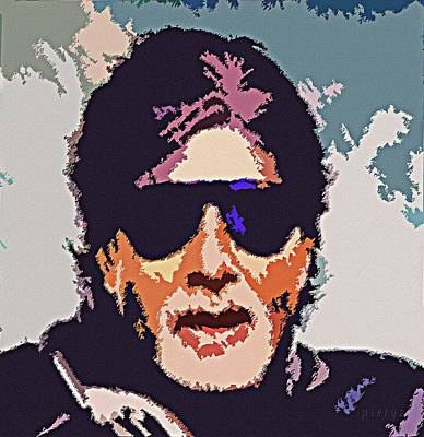 Goan Artists Painting - Amitabh Bachchan The Superstar by Piety Dsilva