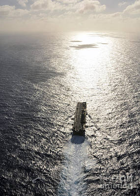 Amphibious Assault Ship Uss Boxer Print by Stocktrek Images