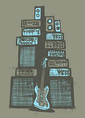 Rock Music Art Photograph - Ampliphones by A Hornsby