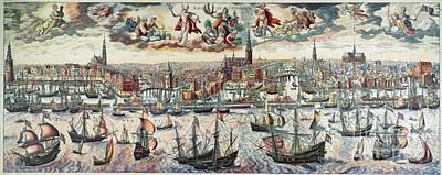 1636 Photograph - Amsterdam, 1636 by Granger