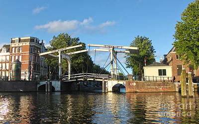 Amsterdam Canal Drawbridge Print by Gregory Dyer