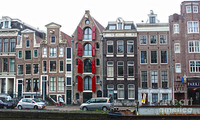 Amsterdam Canal Houses Print by Gregory Dyer