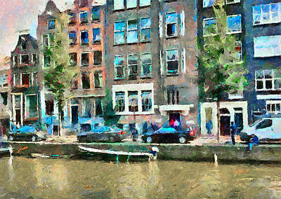 Amsterdam Canals Print by Yury Malkov