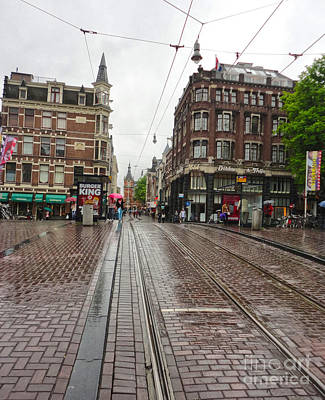 Amsterdam Rainy Day Print by Gregory Dyer