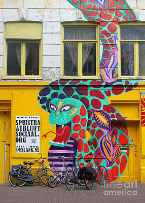 Amsterdam Snake Graffiti Print by Gregory Dyer