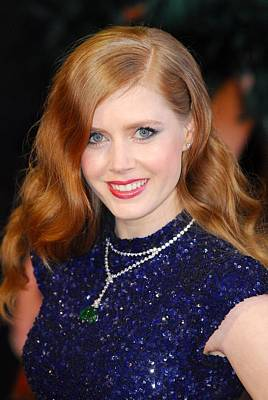 Diamond Necklace Photograph - Amy Adams Wearing A Cartier Necklace by Everett