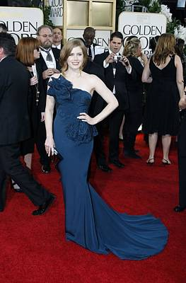 Amy Adams Wearing A Marchesa Gown Print by Everett