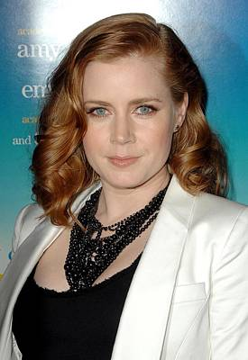 Amy Adams Wearing A Tom Binns Necklace Print by Everett