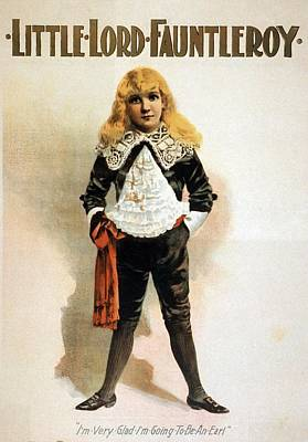 An 1888 Theater Poster Of Little Lord Print by Everett