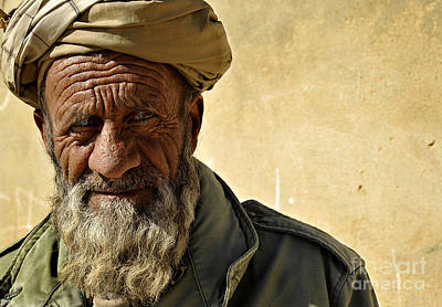 An Afghan Elder From Zabul Province Print by Stocktrek Images