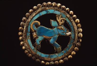 An Ancient Moche Indian Ear Ornament Print by Bill Ballenberg