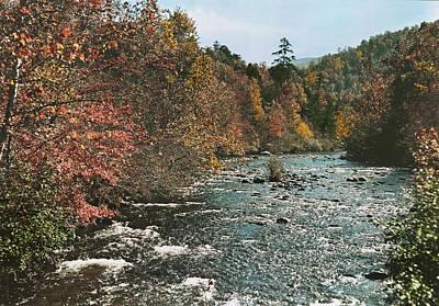 An Autumn Scene Along Little River Print by J. Baylor Roberts