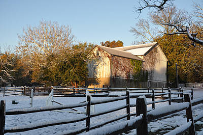 Barn Photograph - An Early Winter On The Farm by Bill Cannon