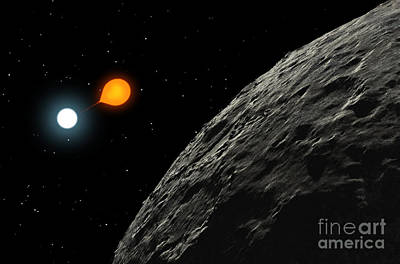 Companion Digital Art - An Eclipsing Binary Star Known by Ron Miller