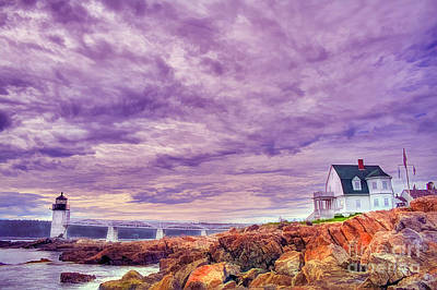 An Evening In Maine Print by Darren Fisher