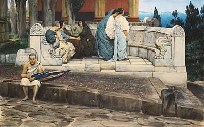 An Exedra Print by Sir Lawrence Alma-Tadema