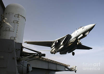An F-14b Tomcat Launches Off The Flight Print by Stocktrek Images