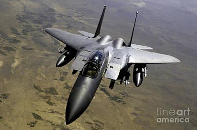 An F-15e Strike Eagle Aircraft Print by Stocktrek Images