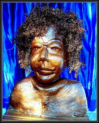 Plaster Of Paris Sculpture - An Indian Saint Stya Sai Baba by Anand Swaroop Manchiraju