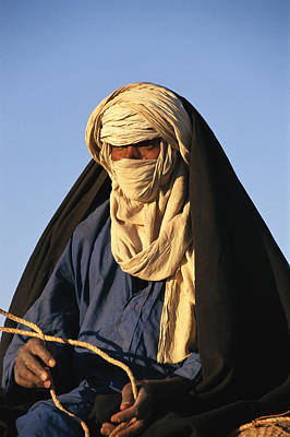 An Informal Portrait Of A Tuareg Man Print by Michael S. Lewis