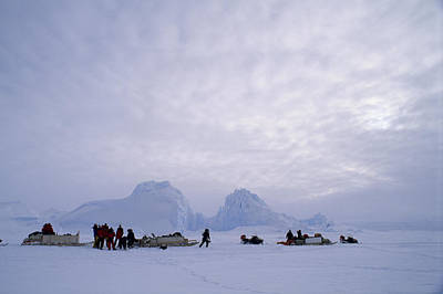 An Inuit-led Expedition Parks Print by Gordon Wiltsie