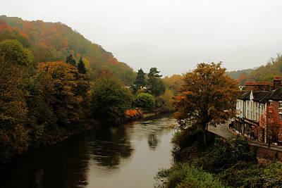 An Ironbridge Autumn Print by Sarah Broadmeadow-Thomas