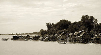 An Island Village On River Irrawaddy Print by RicardMN Photography