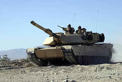 An M1a1 Main Battle Tank Print by Stocktrek Images
