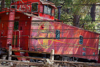 Old Caboose Digital Art - An Old Caboose  by Phyllis Denton