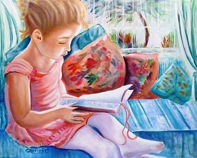 An Open Book Print by Carol Allen Anfinsen