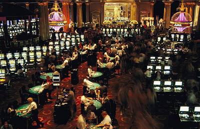 An Overview Of A Las Vegas Casinos Slot Print by Maria Stenzel
