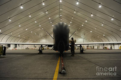 An Rq-4 Global Hawk Unmanned Aerial Print by Stocktrek Images