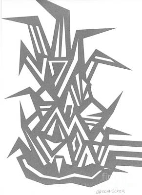 Pineapple Drawing - Ananas No.6 by Roswitha Schmuecker