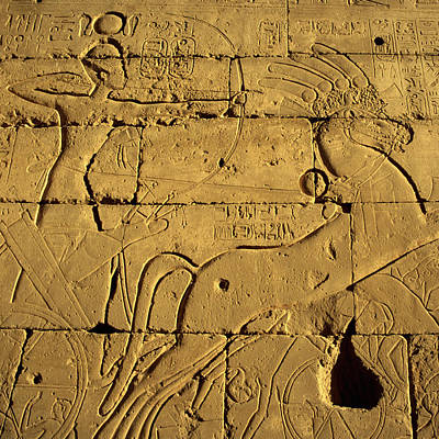 Y120907 Photograph - Ancient Egyptian Carving, Ramesseum Temple, Luxor by Hisham Ibrahim