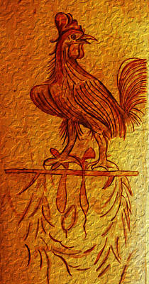 History Photograph - Ancient Rooster by Itzhak Richter
