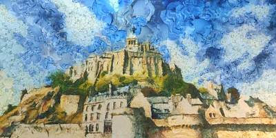 Saint Painting - Ancora Mont St. Michel by Aaron Stokes