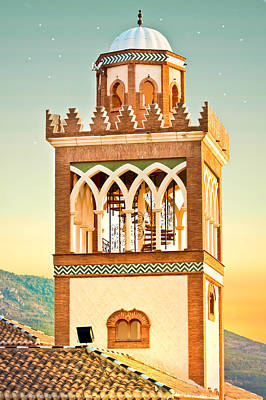 Andalucian Minaret Print by Tom Gowanlock