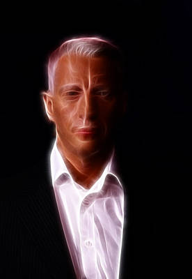 Anderson Cooper - Cnn - Anchor - News Print by Lee Dos Santos