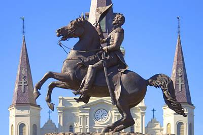 Quarter Horse Digital Art - Andrew Jackson Statue by Mike McGlothlen
