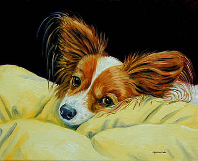 Angel Face - Papillon Print by Lyn Cook