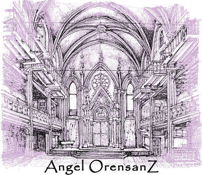 Lilacs Drawing - Angel Orensanz In Lilac  by Building  Art