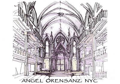 Lower East Side Drawing - Angel Orensanz Ink  by Building  Art