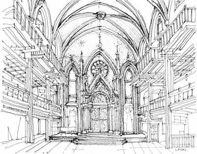 Lower East Side Drawing - Angel Orensanz No 2 by Building  Art