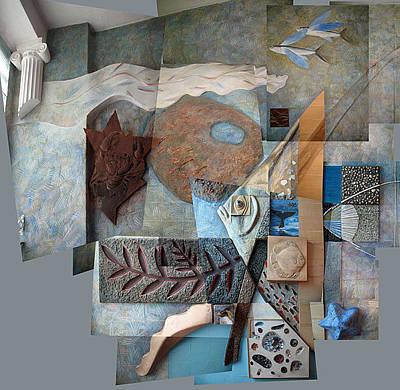 Racei Relief - Angelfish. Kindergarten Decoration. 1988 by Yuri Yudaev-Racei