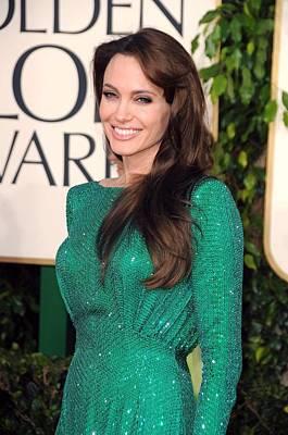Beverly Hilton Hotel Photograph - Angelina Jolie Wearing An Atelier by Everett