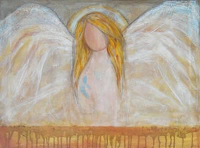 Maryann Painting - Angels Above by MaryAnn Ceballos