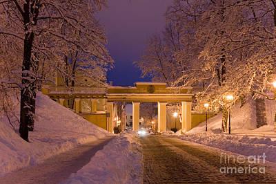 Angels Bridge In Winter Print by Jaak Nilson