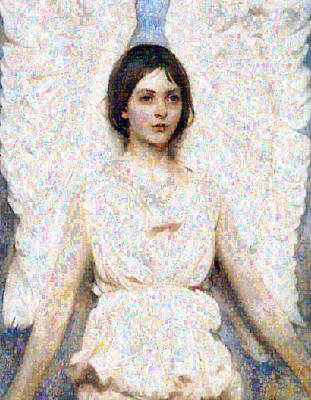 Mosaic Mixed Media - Angels In Our Midst by Georgiana Romanovna